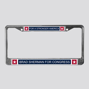 Elect Brad Sherman License Plate Frame
