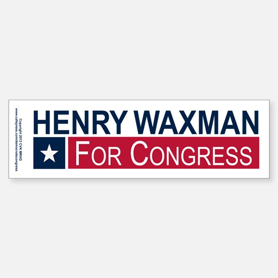 Elect Henry Waxman Sticker (Bumper)