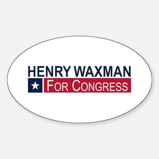 Elect Henry Waxman Sticker (Oval)
