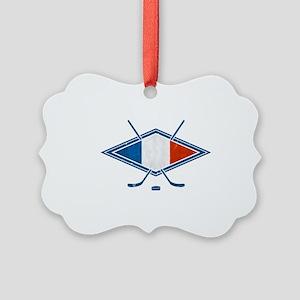 Hockey Sur Glace de Français Ornament