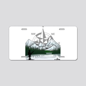 Nature Fly Fishing Aluminum License Plate