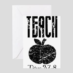 teach titus 2 Greeting Card