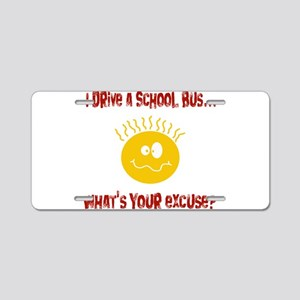 school bus driver Aluminum License Plate