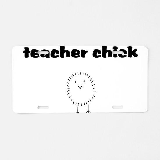 teacherchick.png Aluminum License Plate