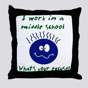 workinamiddleschool Throw Pillow