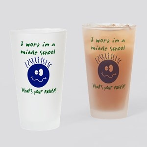 workinamiddleschool Drinking Glass