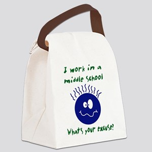 workinamiddleschool Canvas Lunch Bag