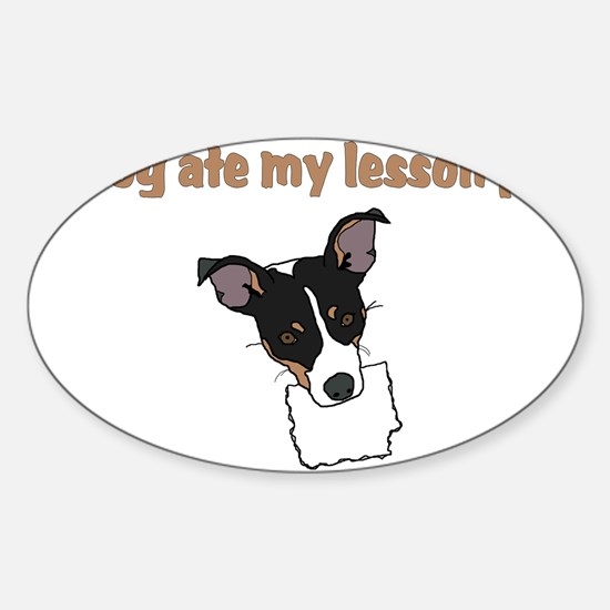 dog ate my lesson plan.png Decal
