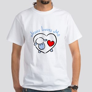 Jesus Loves Me - Blue Lamb Women's Pink T-Shirt