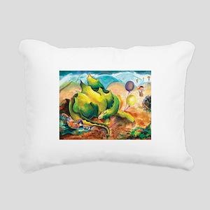 All is Well Dragon Rectangular Canvas Pillow