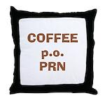 FIN-coffee-po-prn Throw Pillow