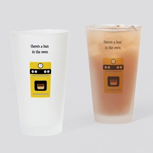 bun in the oven yellow Drinking Glass