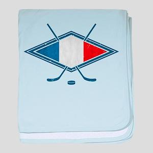 Hockey Sur Glace de Français baby blanket
