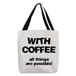 FIN-coffee-all-things-possible Polyester Tote