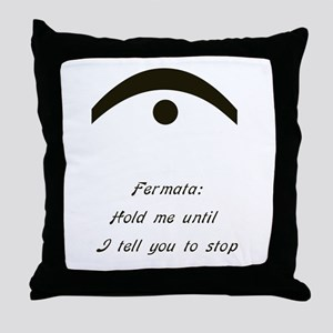 fermata Throw Pillow