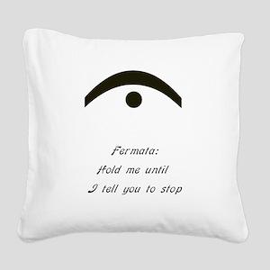 fermata Square Canvas Pillow