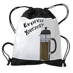 FIN-express-yourself-1 Drawstring Bag