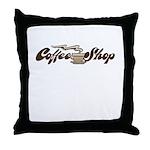 FIN-coffee-shop-1 Throw Pillow
