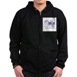 FIN-try-our-coffee-ad Zip Hoodie (dark)