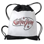 FIN-coffee-shop-2 Drawstring Bag