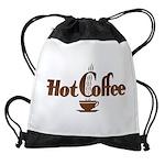 FIN-hot-coffee Drawstring Bag