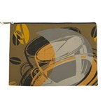 FIN-abstract-coffee Makeup Pouch