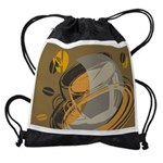FIN-abstract-coffee Drawstring Bag