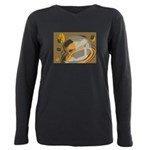 FIN-abstract-coffee Plus Size Long Sleeve Tee