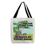 FIN-ass-coffee-break Polyester Tote Bag