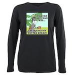 FIN-ass-coffee-break Plus Size Long Sleeve Tee