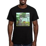 FIN-ass-coffee-break Men's Fitted T-Shirt (dar