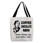 FIN-coffee-chocolate-men Polyester Tote Bag
