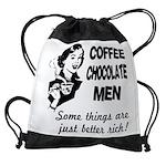 FIN-coffee-chocolate-men Drawstring Bag