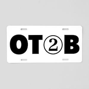 OT 2 B (BLACK) Aluminum License Plate