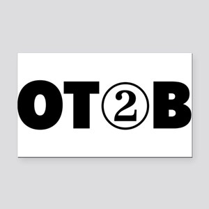 OT 2 B (BLACK) Rectangle Car Magnet