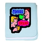 FIN-coffee-break-retro baby blanket