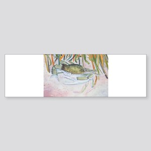 crab watercolor painting Bumper Sticker