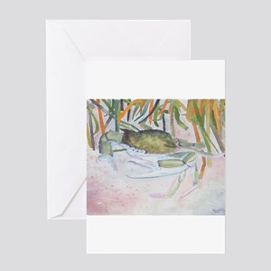 crab watercolor painting Greeting Card