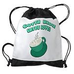 FIN-whole-latte-love Drawstring Bag