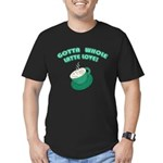 FIN-whole-latte-love Men's Fitted T-Shirt (dar