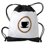 FIN-life-after-coffee Drawstring Bag