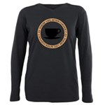 FIN-life-after-coffee Plus Size Long Sleeve Te
