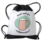FIN-work-cappuccino Drawstring Bag