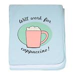 FIN-work-cappuccino baby blanket