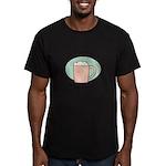 FIN-work-cappuccino Men's Fitted T-Shirt (dark