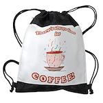 FIN-always-time-coffee Drawstring Bag