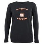 FIN-always-time-coffee Plus Size Long Sleeve T