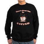 FIN-always-time-coffee Sweatshirt (dark)