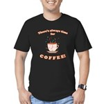 FIN-always-time-coffee Men's Fitted T-Shirt (d