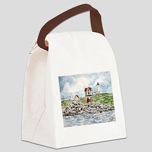 cape neddick lighthouse Canvas Lunch Bag